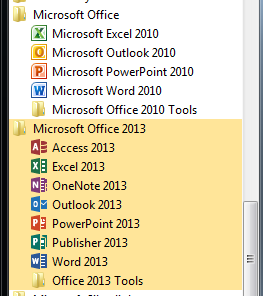 microsoft office 2010 and 2013 comparison